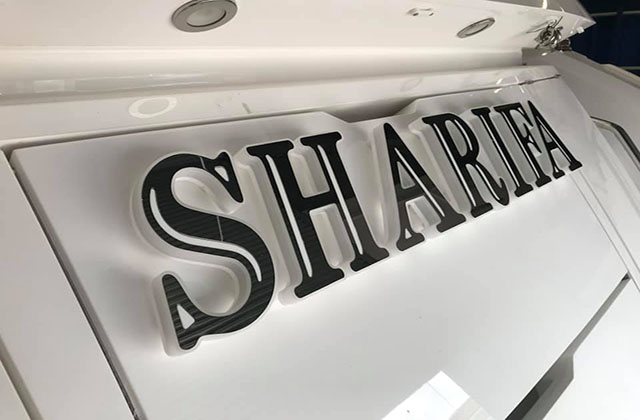 Sharife Yacht Sign