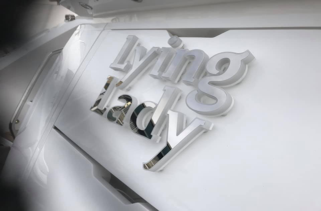 Lying Lady Yacht Sign