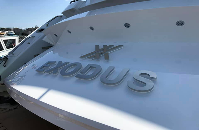 Exodus Yacht Sign