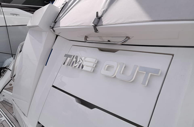 Time Out Yacht Sign